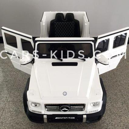 Электромобиль Mercedes-Benz G65 AMG красный глянец (АКБ 12v 10ah, колеса резина, сиденье кожа, пульт, музыка)