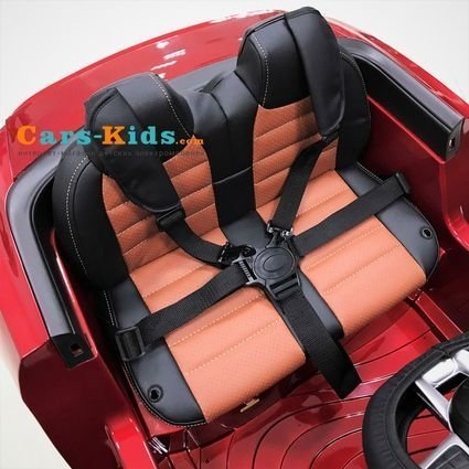 Электромобиль Mercedes-Benz SL65 AMG красный (колеса резина, кресло кожа, пульт, музыка)