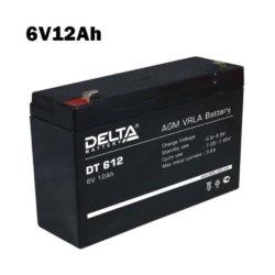 Аккумулятор 6V 12AH DELTA DT