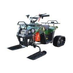 Снегоцикл Mini-Grizlik Snow зеленый (до 30 км/ч, дисковые тормоза, до 60 кг)